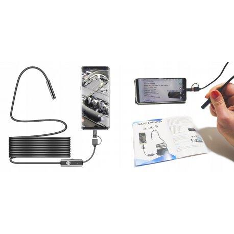 ENDOSKOP Kamera INSPEKCYJNA 5M 960p ANDROID USB-C