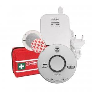 GAZOWY PLUS: Czujnik dymu ST-622, gazu ziemnego SHG-01, Apteczka, Płytka