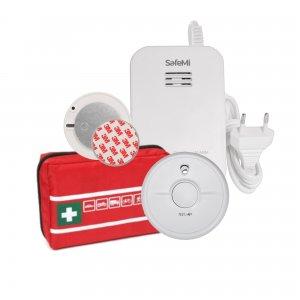 GAZOWY: Czujnik dymu SB5, gazu ziemnego i LPG SHG-02, Apteczka, Płytka