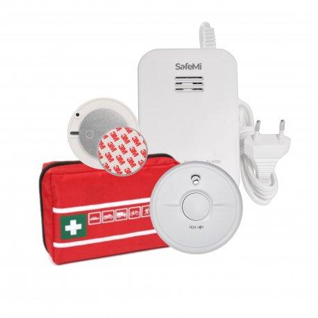 GAZOWY: Czujnik dymu SB5, gazu ziemnego SHG-01, Apteczka, Płytka